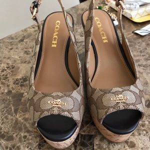 Coach wedges size 6